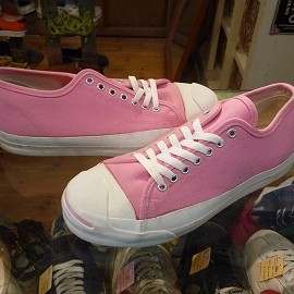 """converse - 「<used>90's converse JACK PURCELL OX pink""""made in USA"""" size:US9(27.5cm) 10000yen」完売"""