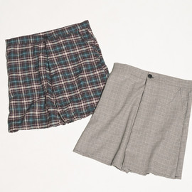 CYDERHOUSE - PLAID SKIRT PANTS