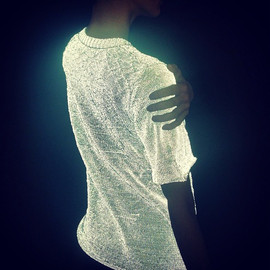 Dion Lee - Reflective knitted top