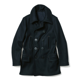 uniform experiment - HEAVY MELTON VINTAGE PEA COAT