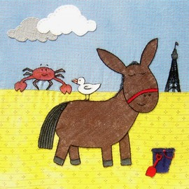"""Luulla - Greetings Card """"A Day At The Seaside"""""""