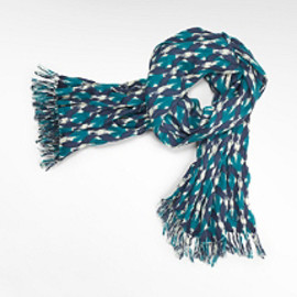 TORY BURCH - INDIO SCARF  NIGHT SKY/TEAL GREEN