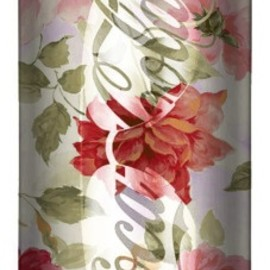 pretty floral coke can