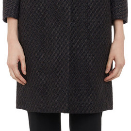 CARVEN - Coated Tweed Bracelet-Sleeve Coat