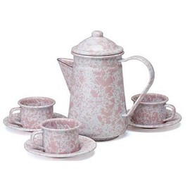 Crow Canyon Home - Marble Enamelware Children's set Tea for 3