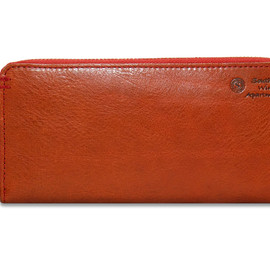 southern wind apartment - SABRINA SWA-126 LONG ZIP WALLET (RUST BROWN)