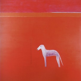 Craigie Aitchison - Dog in Red