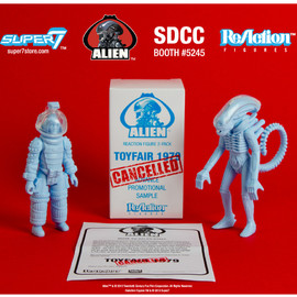 "SUPER7 - ALIEN REACTION FIGURE 2 PACK ""DISCOVERED SALES SAMPLES"" BIG CHAP & KANE"