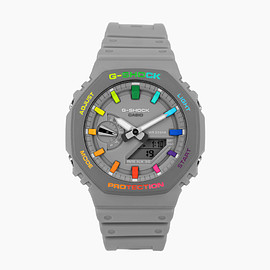 IFLW, The Dial Artist - G-Shock 'CasiOak' Grey Rainbow