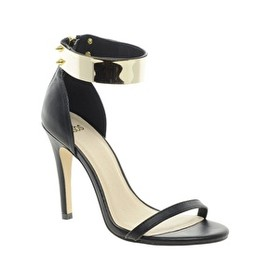 asos - ASOS HONG KONG Heeled Sandals with Metal Trim