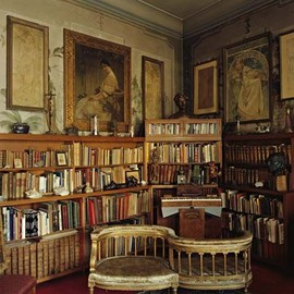 Prague, Czech Republic - Alphonse Mucha's Library