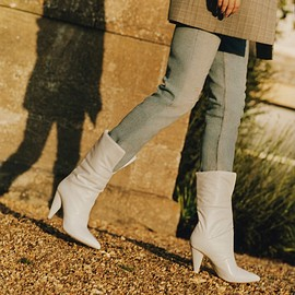 Jimmy Choo - Off-White x Jimmy Choo Sara Quilted Leather Boots
