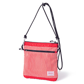 "HEAD PORTER - ""LUMIERE"" SHOULDER POUCH (S) RED"