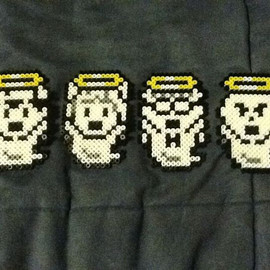 Earthbound Unconscious Ghosts Perler Bead Magnets