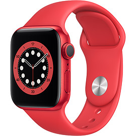Apple - Apple Watch Series 6(GPSモデル)- 40mm (PRODUCT)REDアルミニウムケースと(PRODUCT)REDスポーツバンド [M00A3J/A]