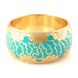 Foil Flower Bangle Turquoise