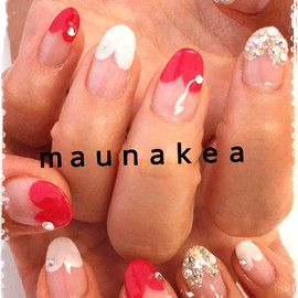 Mauna Kea Nails - Heart French Manicure