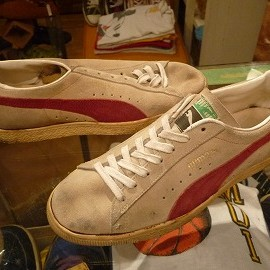 "PUMA - 「<used>80's PUMA PUMA(SUEDE) natural/burgundy""made in YUGOSLAVIA"" size:UK8(26.5-27cm) 17000yen」完売"