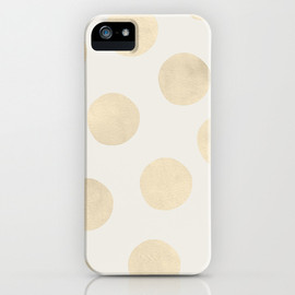 Society6 - Gold Polka Dots iPhone & iPod Case
