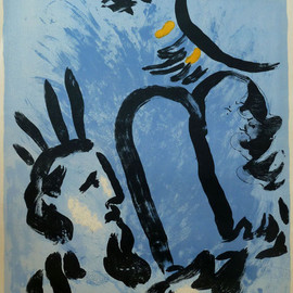 Marc Chagall - Moses  -  lithograph