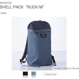 "BAG'n'NOUN - SHELL PACK ""RUCK/L"" BLACK"