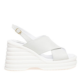 Dries Van Noten - SS2015 Leather Wedge Sandals with Foam Sole