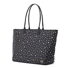 "HEAD PORTER - ""STELLAR (NEW)"" TOTE BAG (M) BLACK"