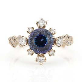 abheri - Tanzanite Diamond Ring