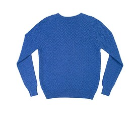 Kinloch Anderson - Blue Herringbone Sweater