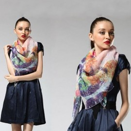hallomall - Autumn & Winter Female Ink Silk Scarf