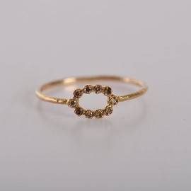 natural diamond(rose cut) ring