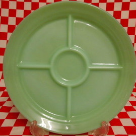 Jadeite Magic Gallery - Fire King Jadeite Restaurantware G311 5-Compertment Plate #1