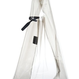 JIL SANDER - Transparent grey shopper