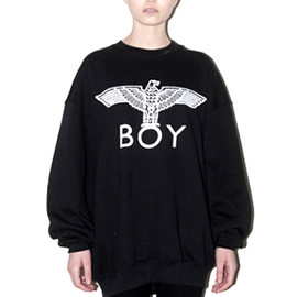 BOY LONDON - BOY EAGLE SWEAT - Black