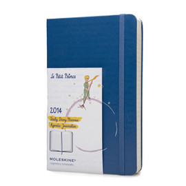 Moleskine - 2014 Le Petit Prince Large Daily Planner (Hard Cover) - Blue (5 x 8.25) (Planners & Datebooks)