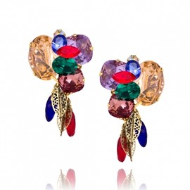 ERICKSON BEAMON - セレブリティー御用達ジュエリー■ ERICKSON BEAMON  ■ Gold Plated Swarovski Crystal Garden Party Earrings  1