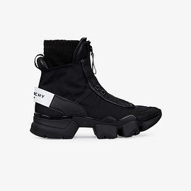 GIVENCHY - Jaw high sneakers in nylon, leather and knit