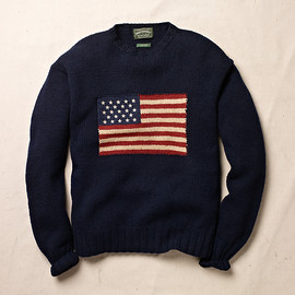 RALPH LAUREN - Hand Knit - Flag Wool Sweater
