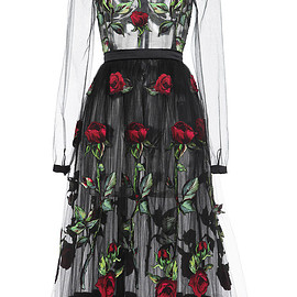 DOLCE&GABBANA - FW2015 Rose Embroidered Full Skirt Tulle Dress