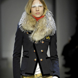 BALENCIAGA - FW2007 RTW collection Badger Fur & 'School Blazer' Jacket