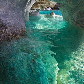 chile - Marble Cathedral, Patagonia, Chile