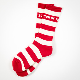 SON OF THE CHEESE - BORDER SOX(RED)