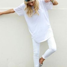 casual white