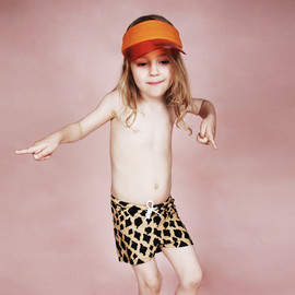 mini rodini - SWIM PANTS GIRAFFE BEIGE/BROWN