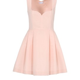 RED VALENTINO - Faille dress with wide straps and sweetheart neckline