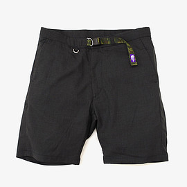 THE NORTH FACE - THE NORTH FACE PURPLE LABEL | COOLMAX� Tropical Webbing Belt Shorts | Charcoal
