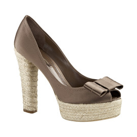 LOUIS VUITTON - Rope heel and platform peep-toe pumps
