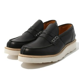 Two tone step in loafer
