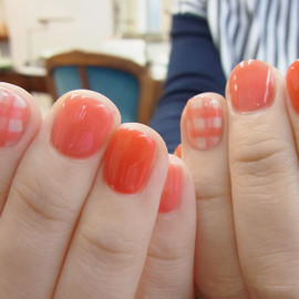 COMMON - gingham check nail