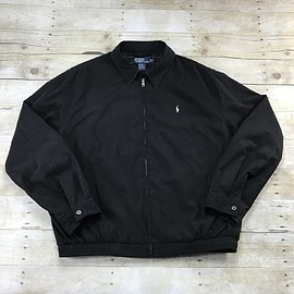 POLO RALPH LAUREN - Polo by Ralph Lauren Black Bi Swing Windbreaker Jacket Mens Size XL